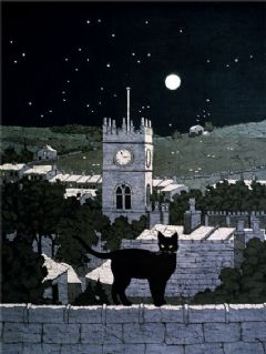 Image entitled Cat in the Moonlight
