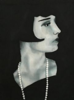 Image entitled Louise Brooks with Pearls