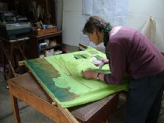 Image entitled Helen in the studio