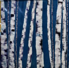 Image entitled Silence Among the Birches