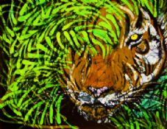 Image entitled Tiger in Bamboo